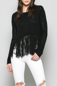 FATE by LFD Fringe Cropped Sweater - Product List Image
