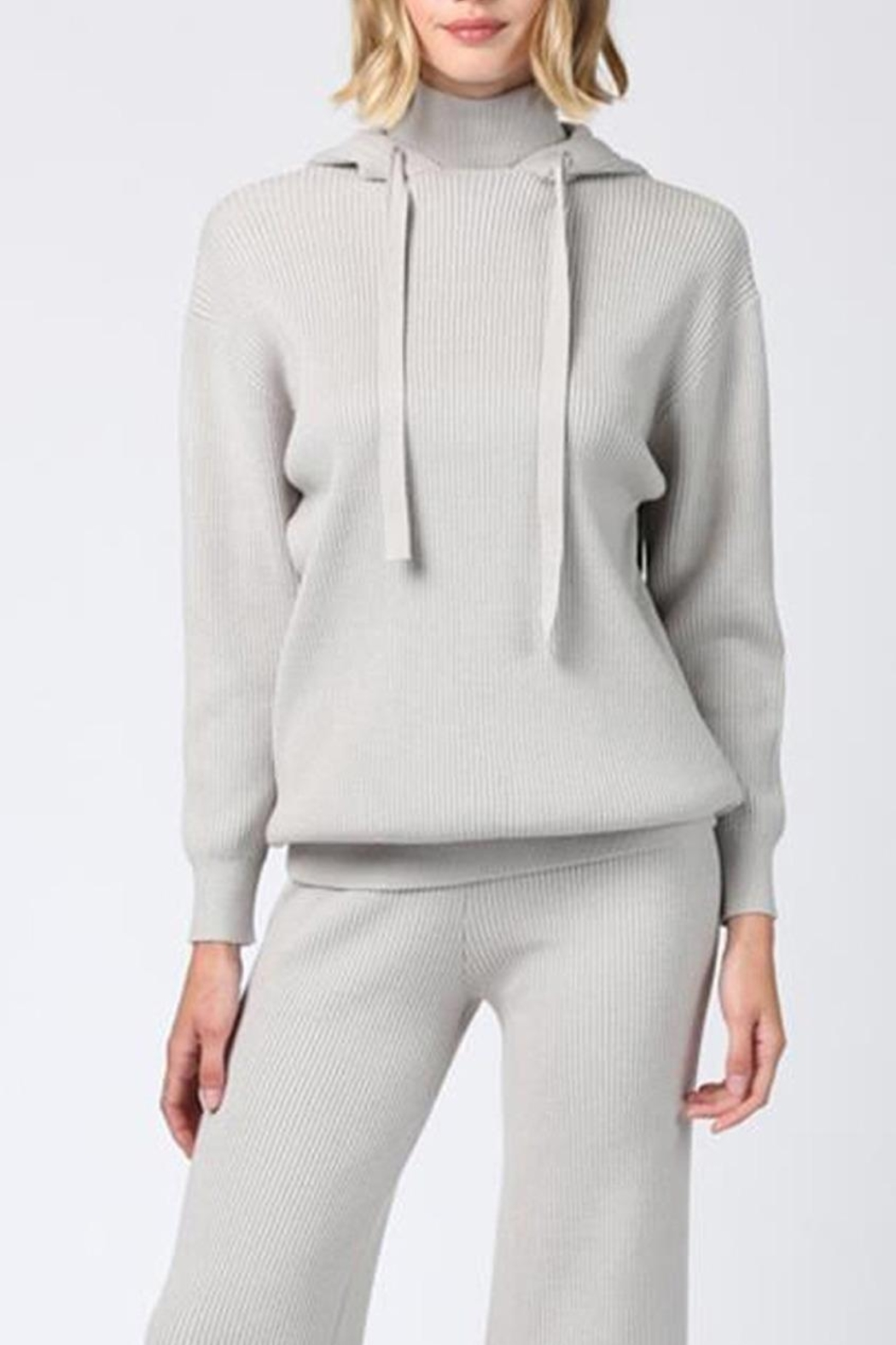 FATE by LFD Knit Drawstring Hoodie - Main Image