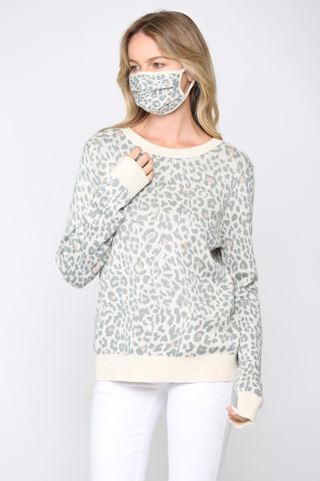 FATE by LFD Leopard Sweater +Mask - Side Cropped Image