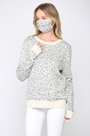 FATE by LFD Leopard Sweater +Mask - Side cropped