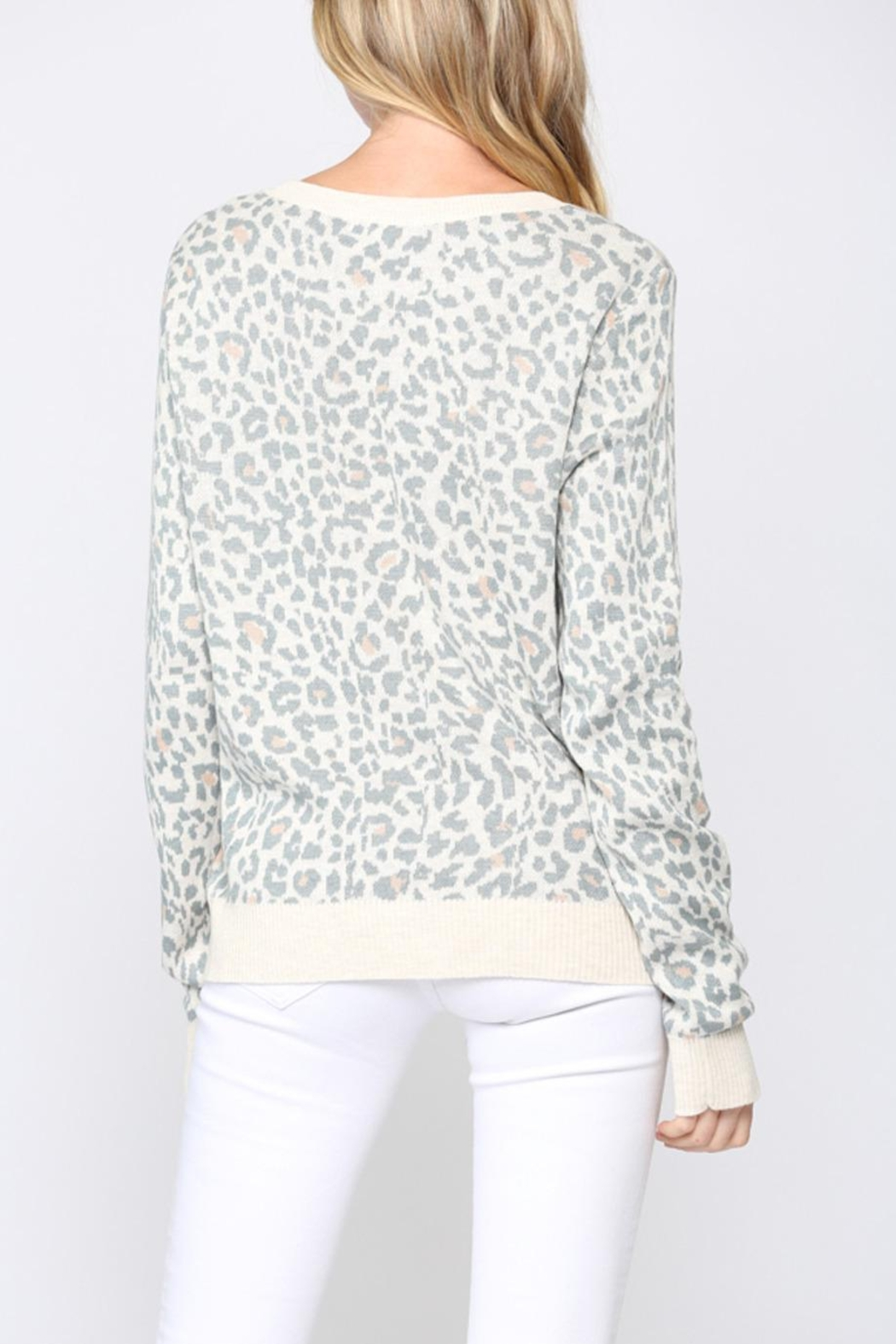 FATE by LFD Leopard Sweater +Mask - Back Cropped Image