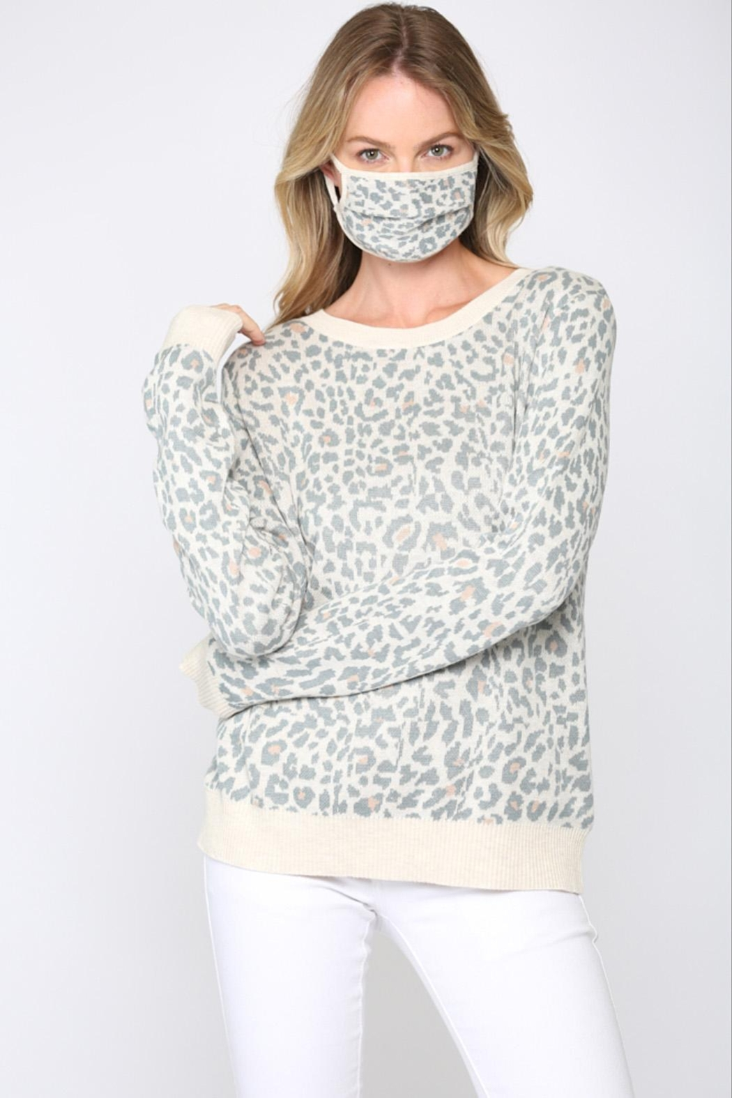FATE by LFD Leopard Sweater +Mask - Front Full Image