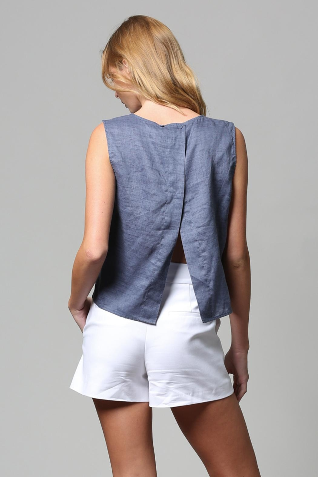 FATE by LFD Linen Tank - Side Cropped Image
