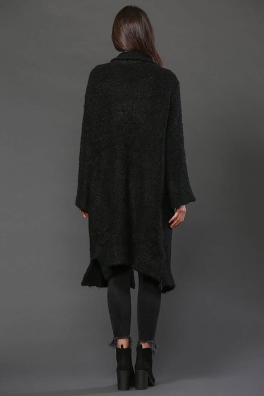 FATE by LFD Long Knit Coat - Side Cropped Image