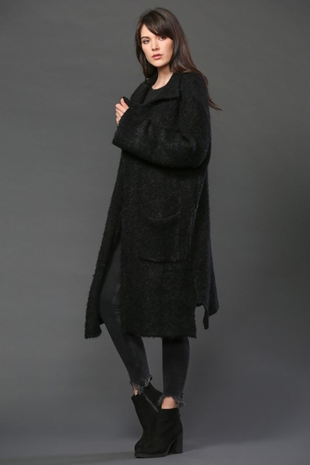 FATE by LFD Long Knit Coat - Front Full Image