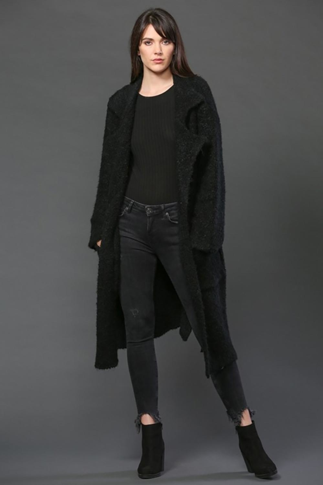 FATE by LFD Long Knit Coat - Main Image