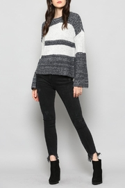 FATE by LFD Navy Striped Sweater - Product Mini Image