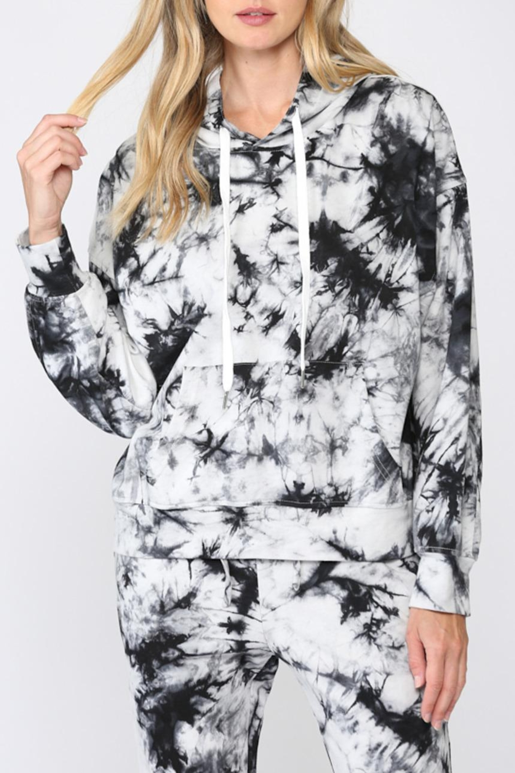 FATE by LFD Tie Dye Hoodie - Front Cropped Image