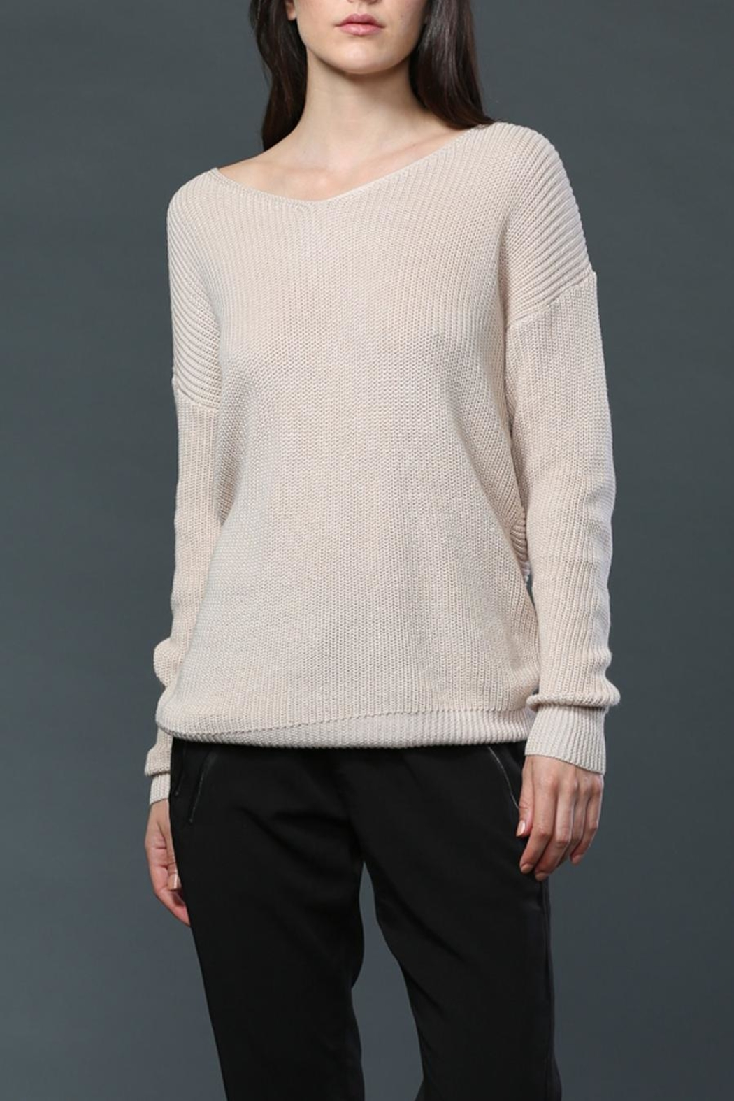 FATE by LFD Twist Back Sweater - Front Full Image