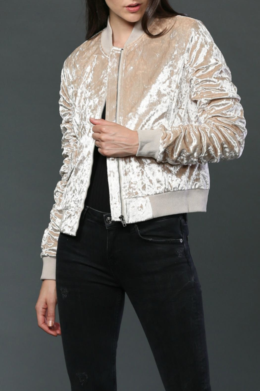 FATE by LFD Velvet Bomber Jacket - Side Cropped Image