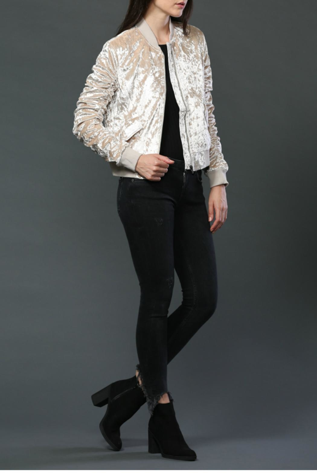 FATE by LFD Velvet Bomber Jacket - Front Full Image