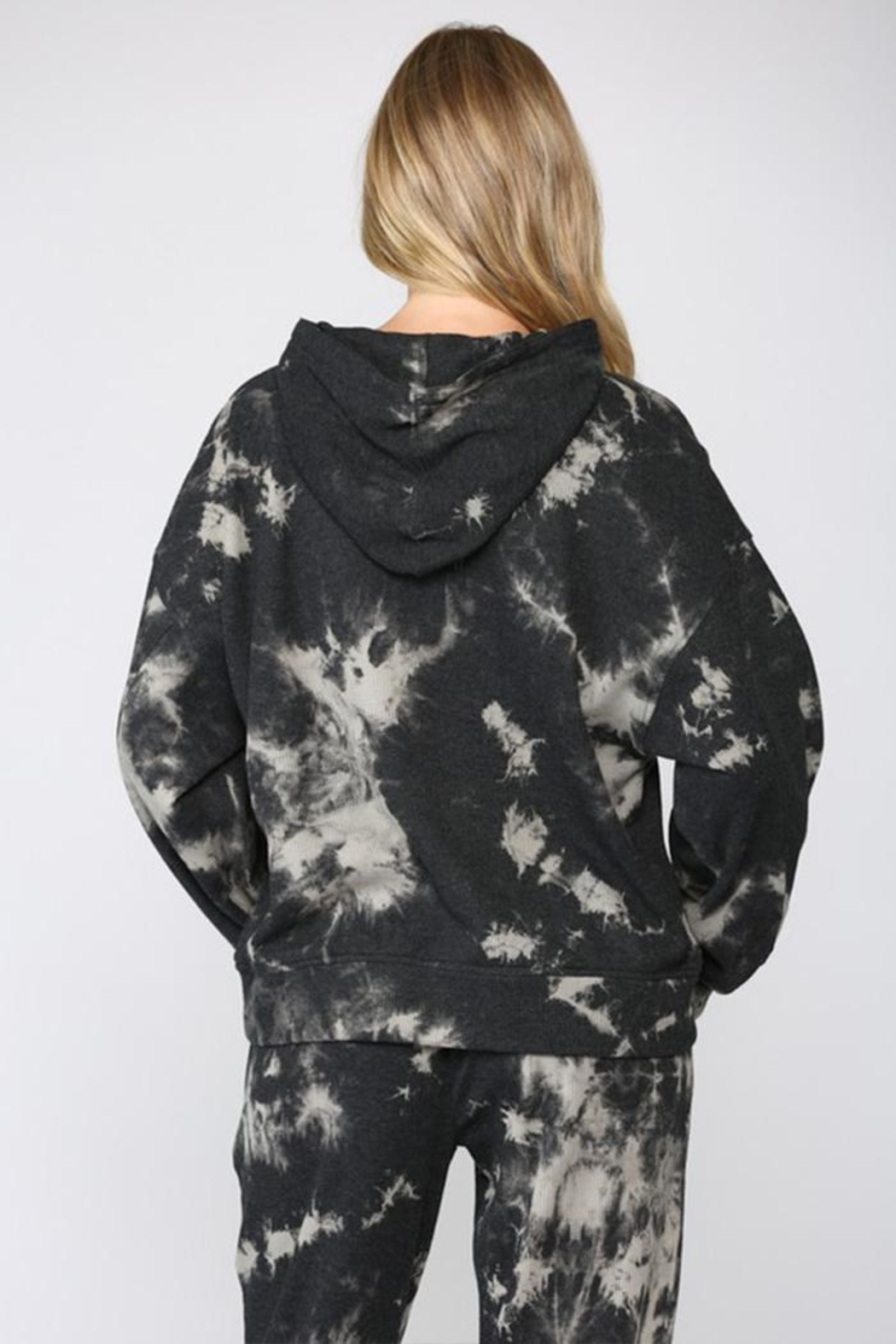 Fate Inc. Drawstring Tie-Dye Sweater - Side Cropped Image