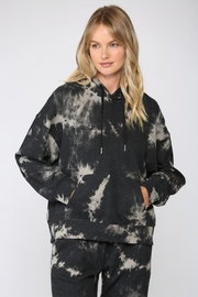 Fate Inc. Drawstring Tie-Dye Sweater - Front cropped