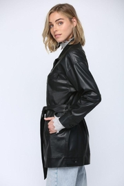 Fate Inc. Faux Leather Jacket - Front full body