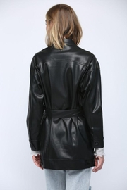 Fate Inc. Faux Leather Jacket - Back cropped