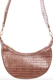 Anarchy Street Faux Alligator Croissant Hand Bag - Front full body