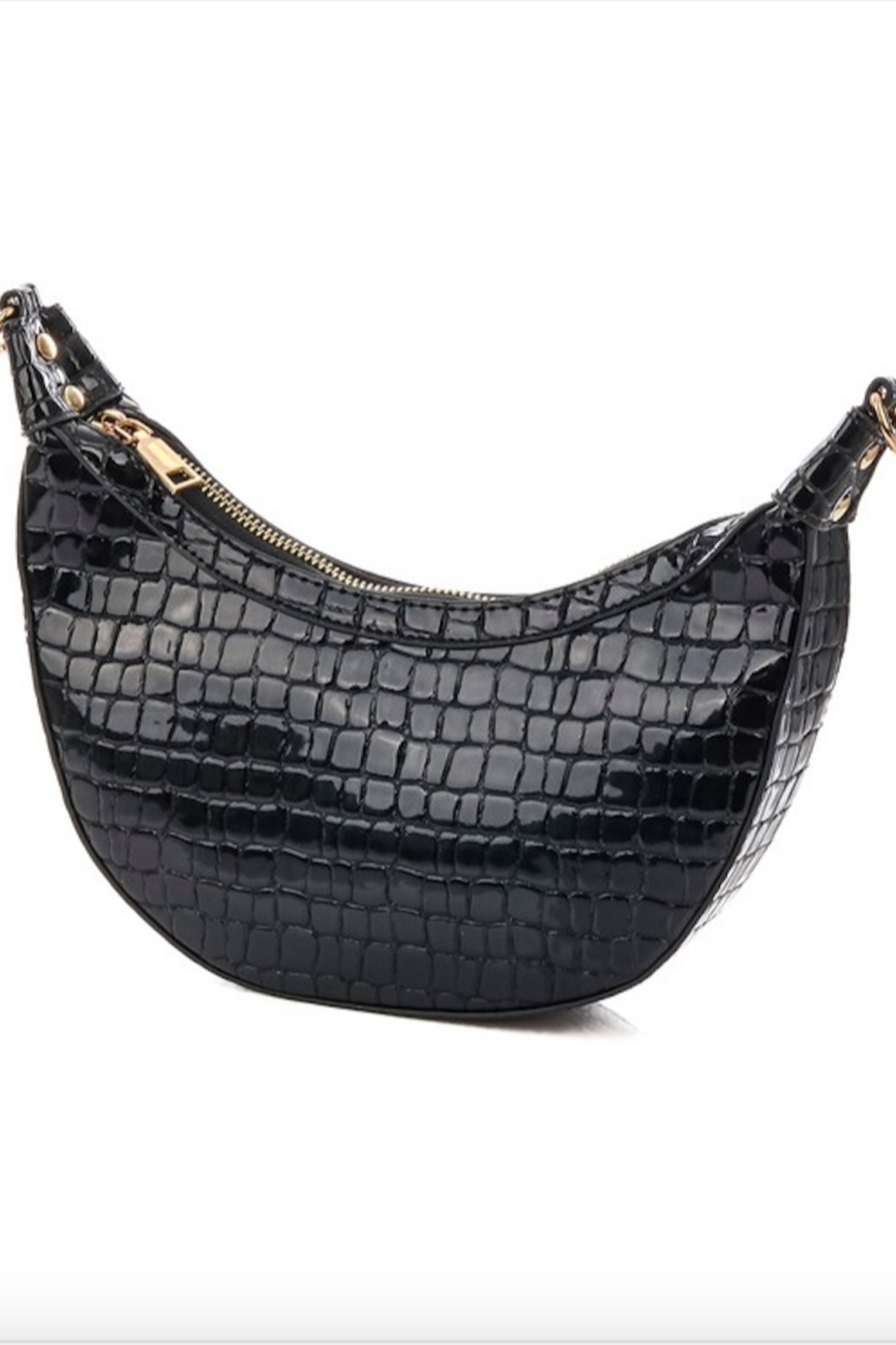 Anarchy Street Faux Alligator Croissant Hand Bag - Front Cropped Image