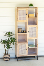 Kalalou FAUX BAMBOO SHELF UNIT - Product Mini Image
