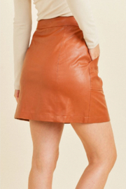Paper Crane Faux Button Skirt - Front full body