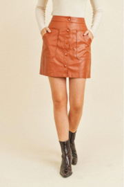 Paper Crane Faux Button Skirt - Front cropped