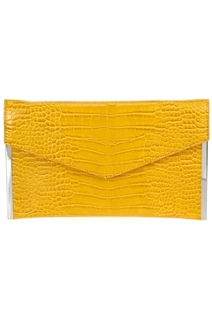 joseph d'arezzo Faux Crocodile Clutch - Alternate List Image