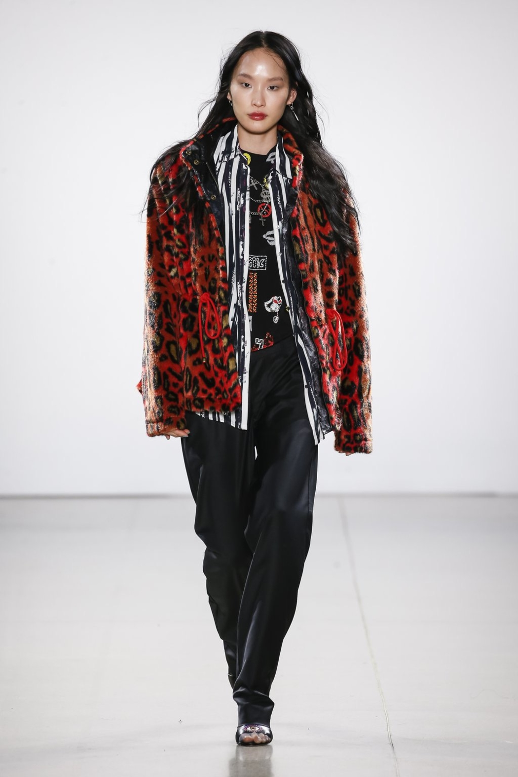 Nicole Miller Faux Fur Anorak Jacket - Front Cropped Image