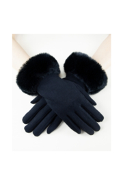 Very Moda Faux Fur Black Glove - Product Mini Image