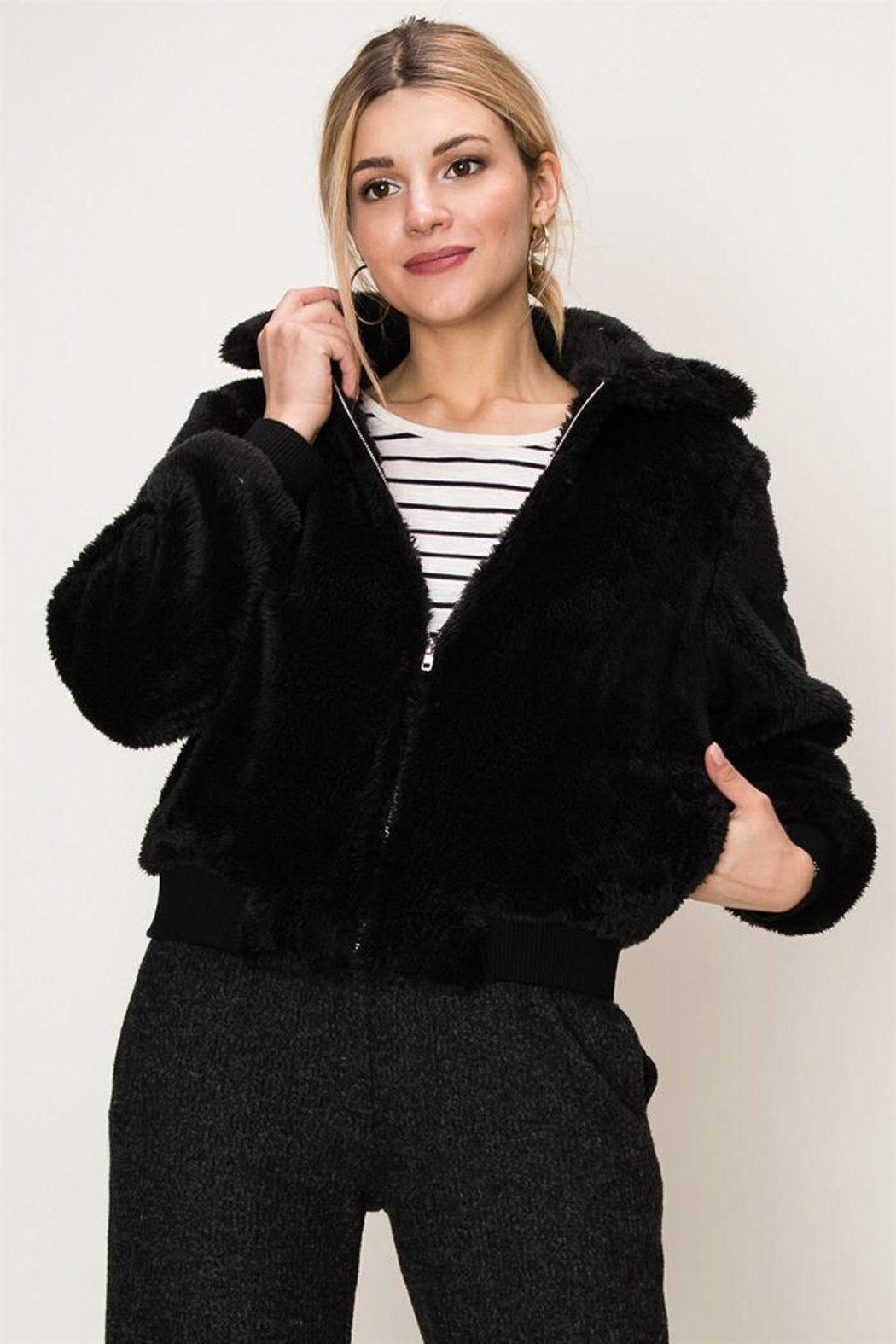 HYFVE Faux Fur Bomber from New Jersey by Making Waves — Shoptiques 58b26d64f