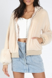 Honey Punch Faux Fur Bomber - Product Mini Image