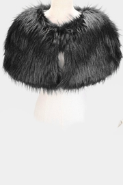 Embellish Faux Fur Cape - Front full body