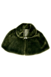 Shawls & Wraps | Vintage Lace & Fur Evening Scarves Faux Fur Cape $108.50 AT vintagedancer.com