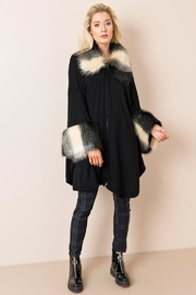 Pia Rossini Faux-Fur Capelet - Front cropped