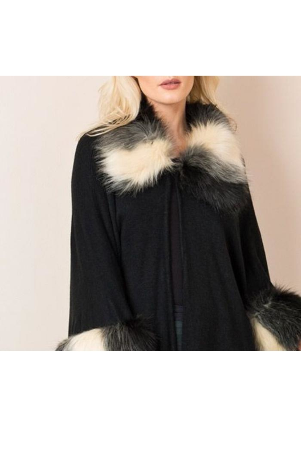 Pia Rossini Faux-Fur Capelet - Front Full Image