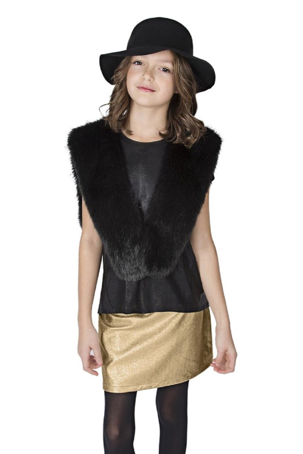 MIA New York Faux Fur Capelet - Front Full Image