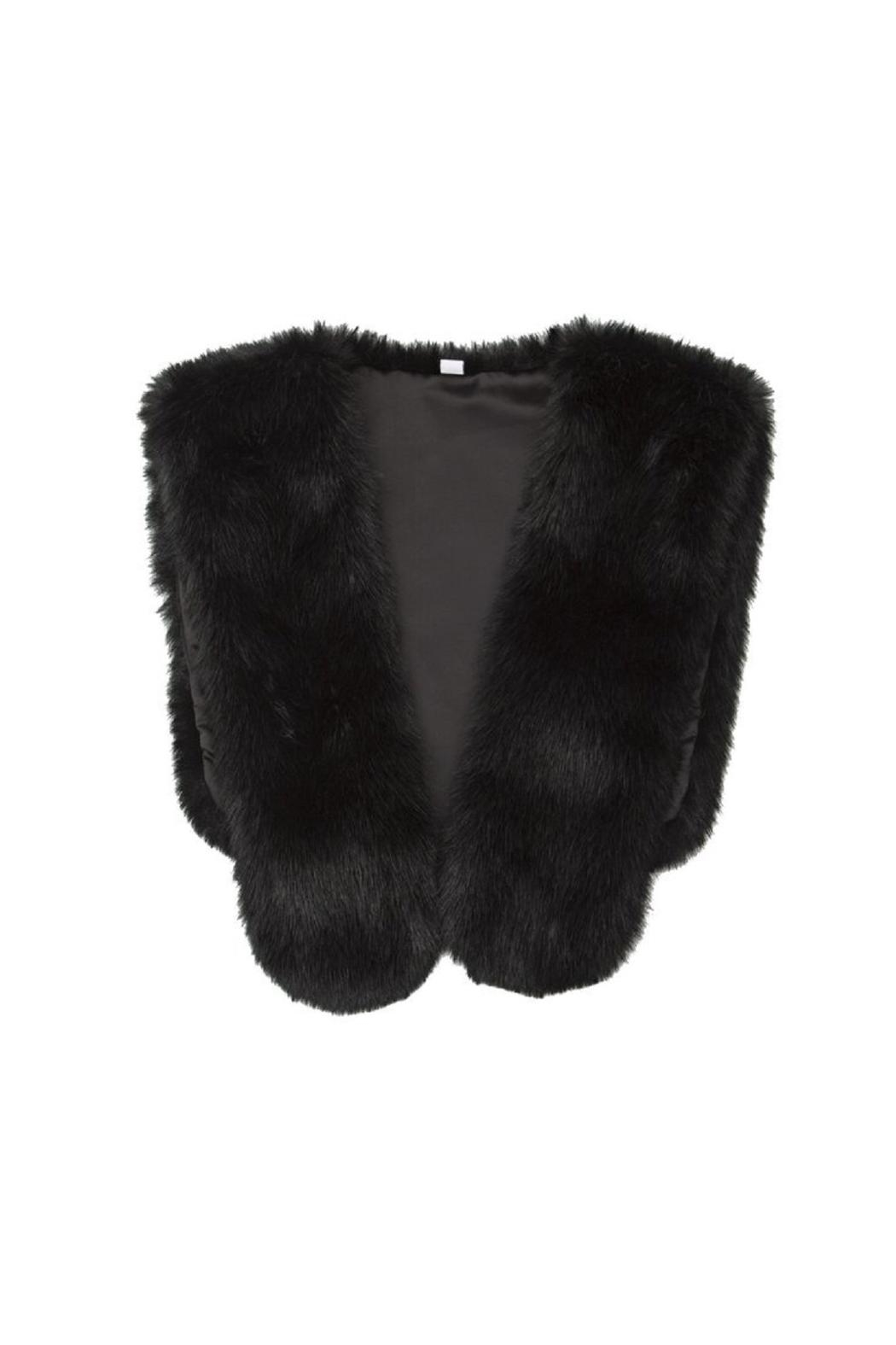 MIA New York Faux Fur Capelet - Front Cropped Image