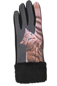 Jeanne Simmons Faux-Fur Cat Gloves - Alternate List Image
