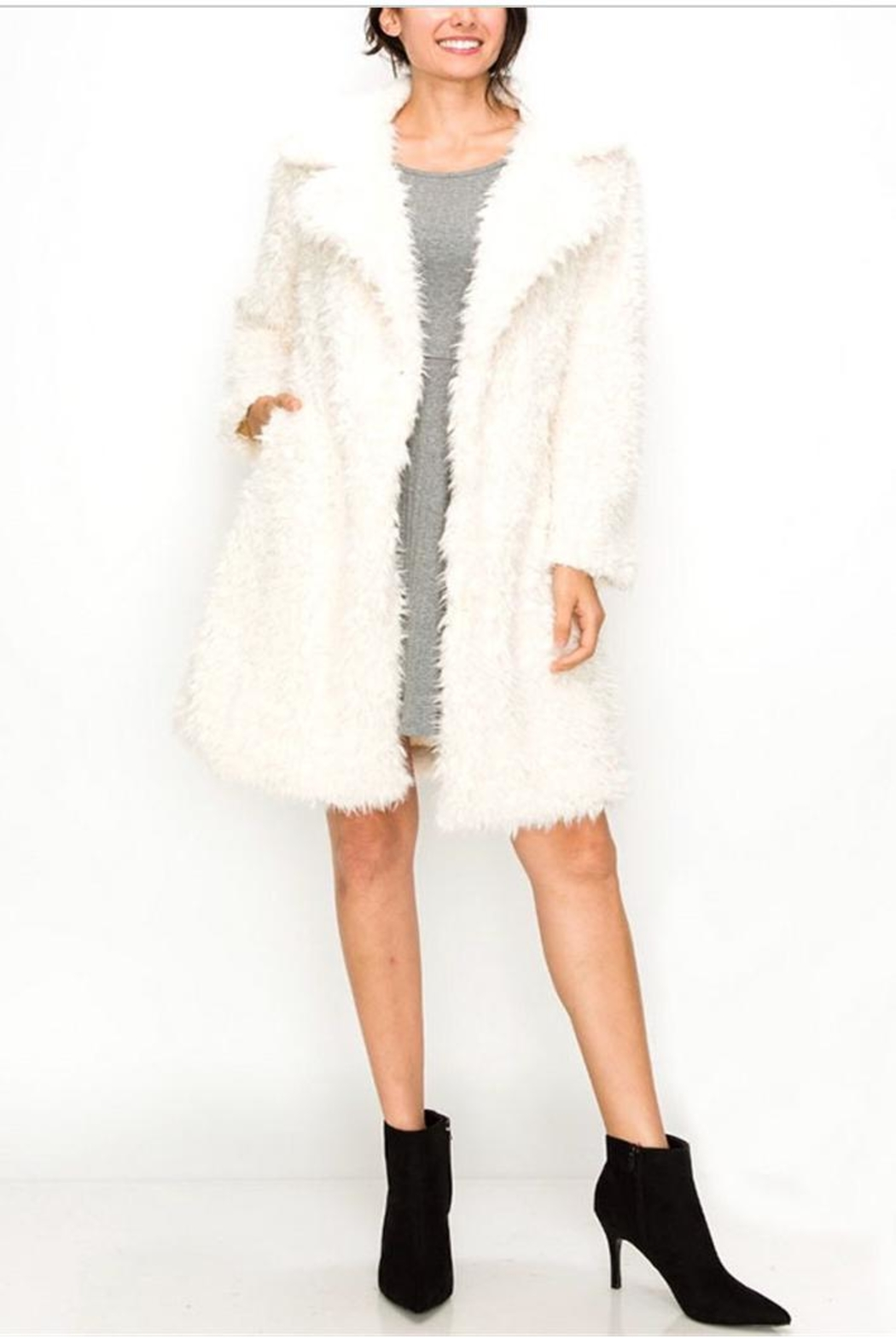 Kimberly C. Faux Fur Coat - Main Image