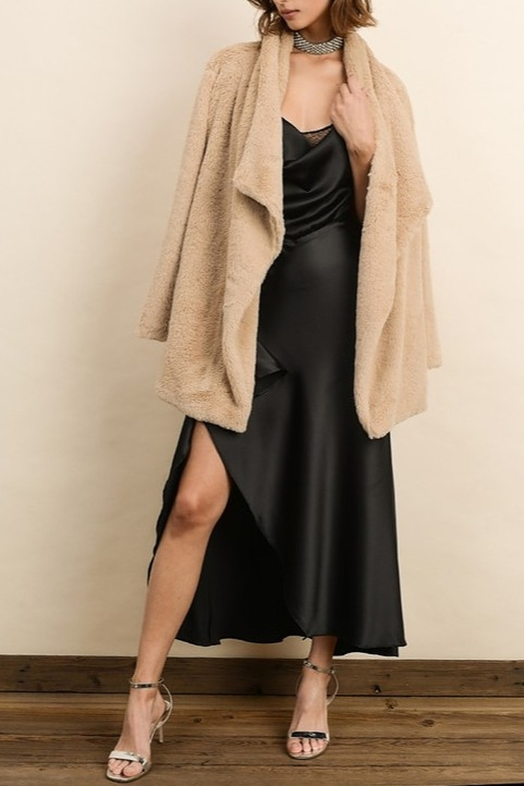 Dress Forum  Faux Fur Coat - Front Full Image