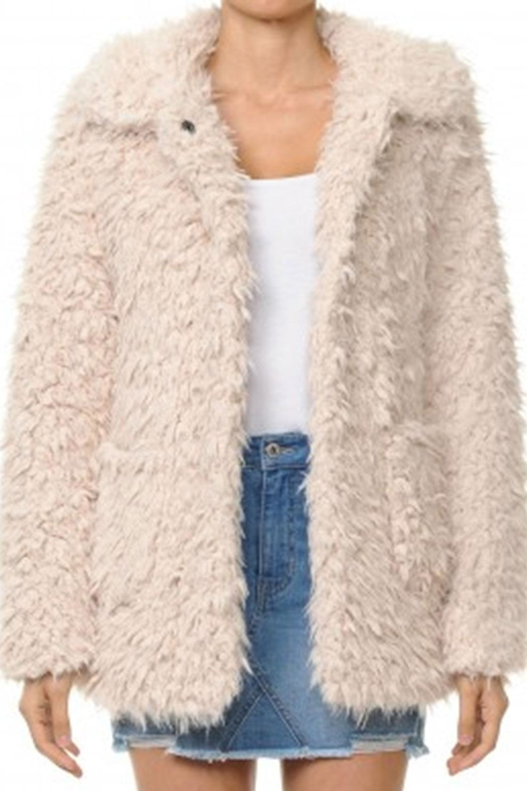 ambiance apparel Faux-Fur Collar Jacket - Main Image