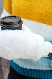 C.C. Faux Fur Convertible Mittens - Product Mini Image