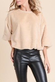 Doe & Rae Faux-Fur Crop Sweater - Product Mini Image