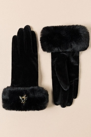 Pia Rossini Faux-Fur Cuffed Gloves - Product Mini Image
