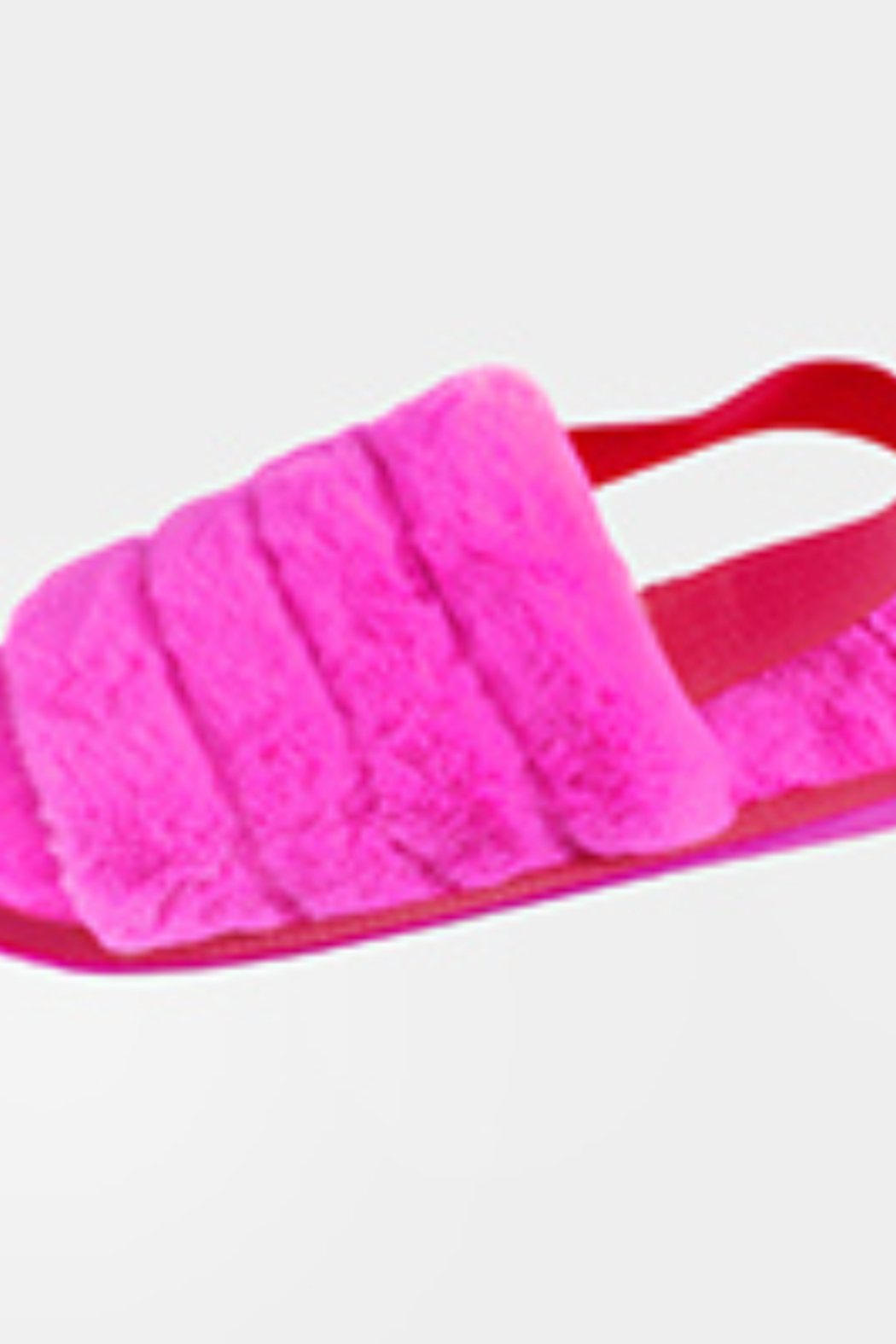 Lyn-Maree's  Faux Fur Elastic Slingback Strap Indoor Slide Slippers - Front Cropped Image