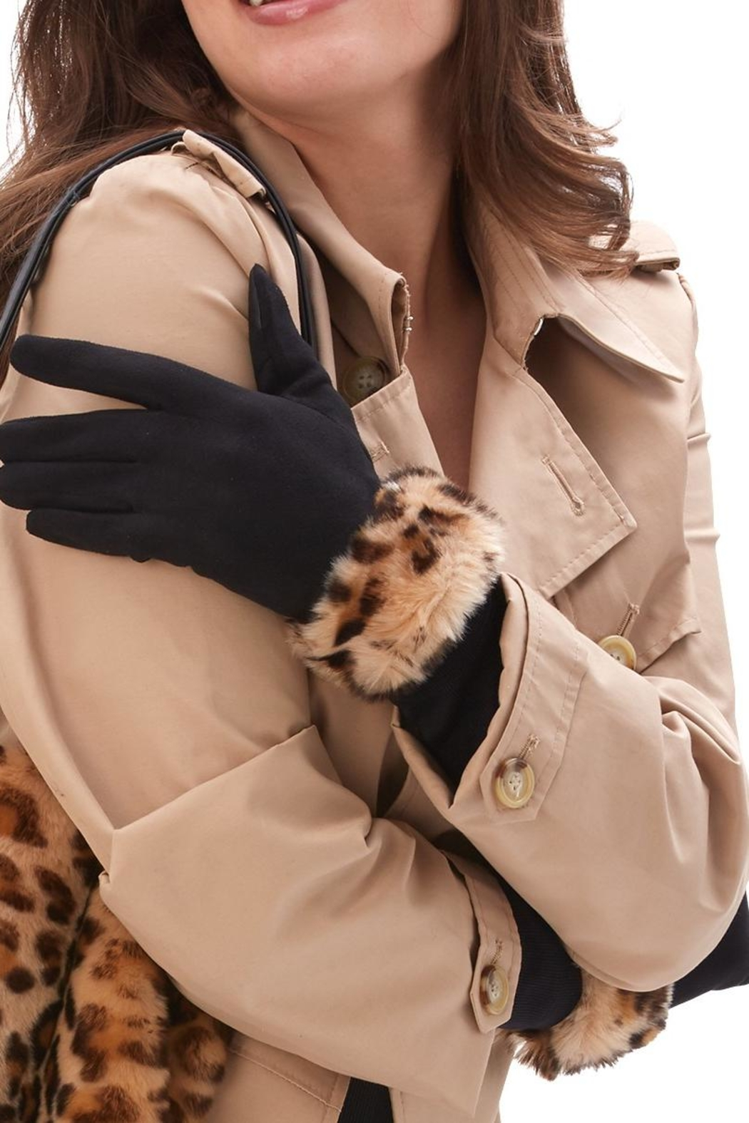 2 Chic Faux Fur Gloves - Front Cropped Image