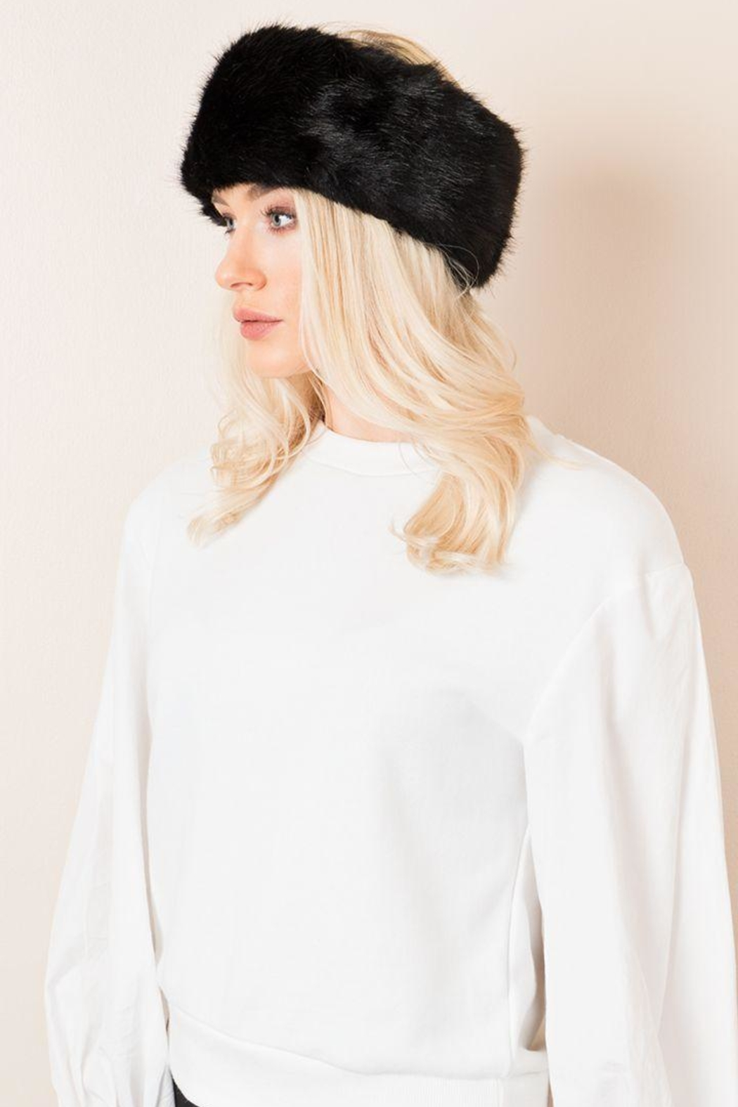 pia rossini faux fur headband from wallingford by the dressing room