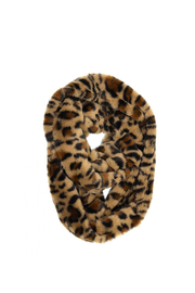 Joy Accessories Faux Fur Infinity Leopard Scarf - Front cropped