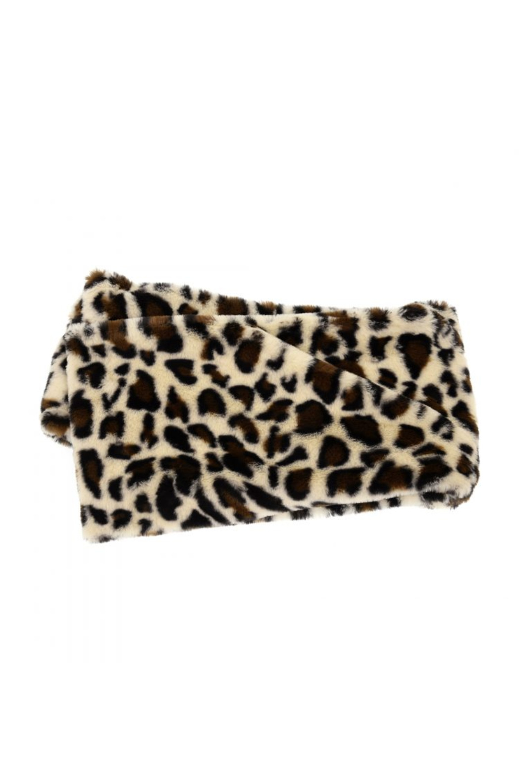 Joy Accessories Faux Fur Infinity Leopard Scarf - Front Full Image