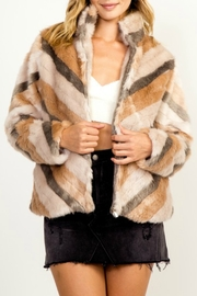 Olivaceous Faux Fur Jacket - Product Mini Image