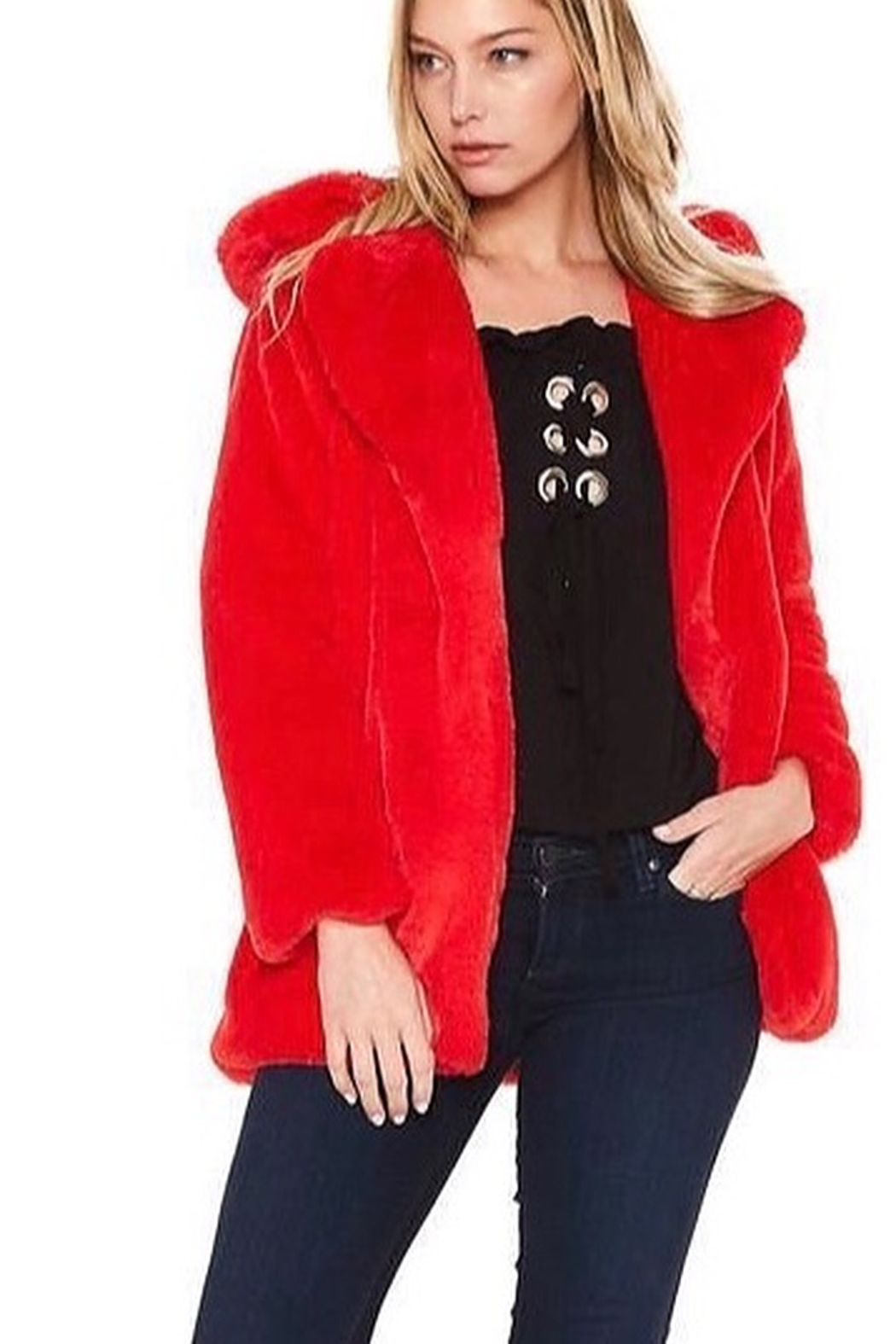 Vava by Joy Hahn Faux Fur Jacket - Main Image