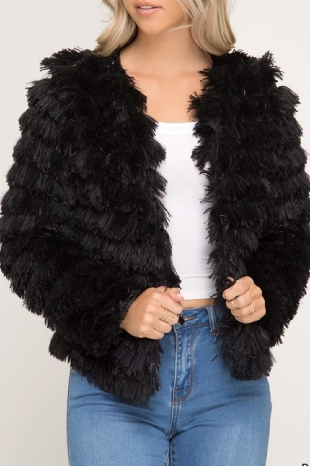 Beauty by BNB Faux Fur Jacket - Front Cropped Image